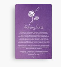 Affirmation - Releasing Tension Canvas Print