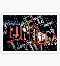 Welcome To London - Sherlock Version #1 Sticker