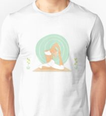 Beautiful woman doing yoga practice Unisex T-Shirt