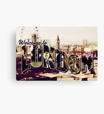 Welcome To London - Sherlock Version #2 Canvas Print
