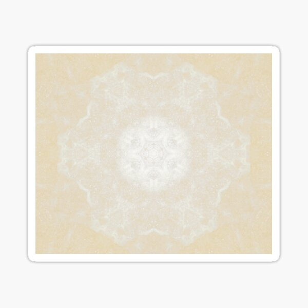 Off White Kaleidoscope Sticker