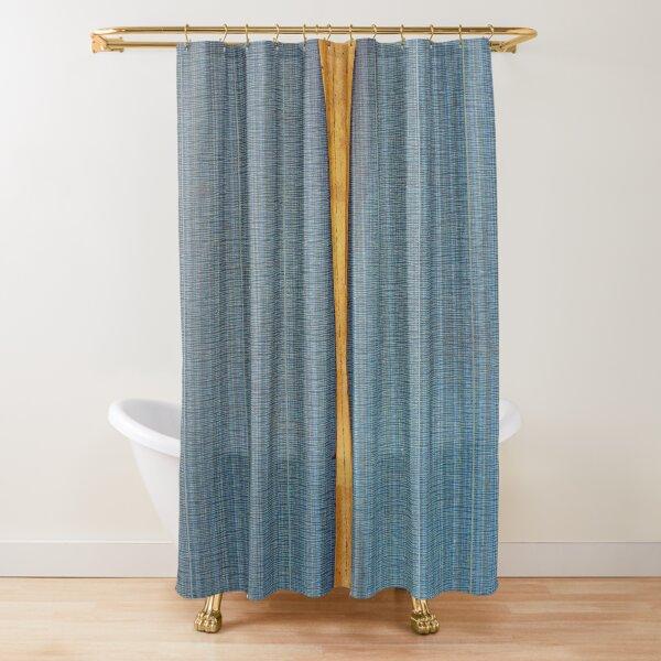 Dark Blue Deep Split Shower Curtain