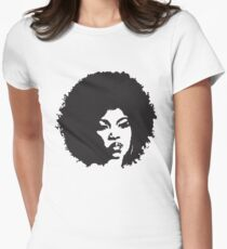 Afro Woman Womens Fitted T-Shirt