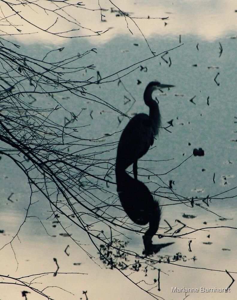 Blue Heron by Marianne Barnhardt