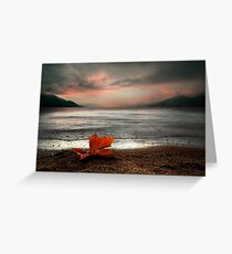 Lonely Tear Drop Greeting Card