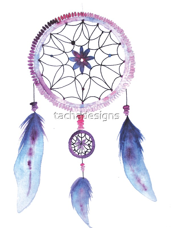 Dreamcatcher watercolor illustration stickers by for Dream catcher spray painting