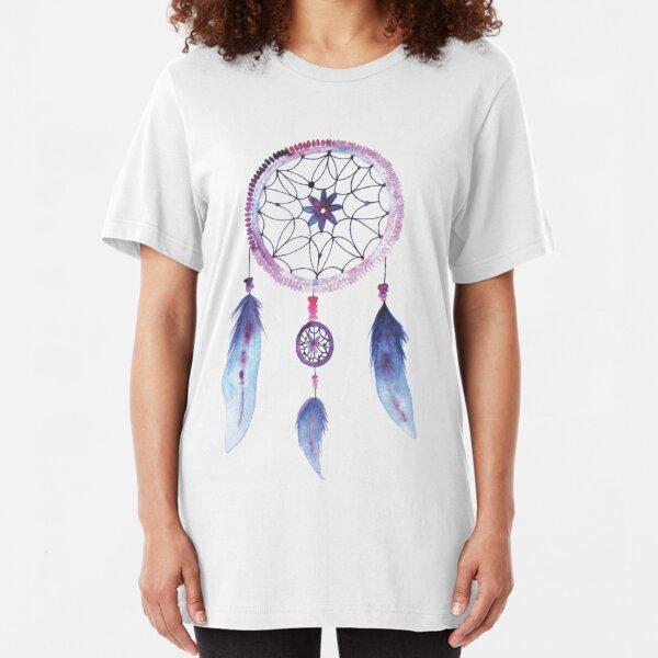 Dreamcatcher Watercolor Illustration Slim Fit T-Shirt
