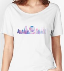 Orlando Future Theme Park Inspired Skyline Silhouette Women's Relaxed Fit T-Shirt