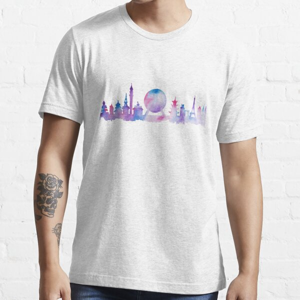 Orlando Future Theme Park Inspired Skyline Silhouette Essential T-Shirt