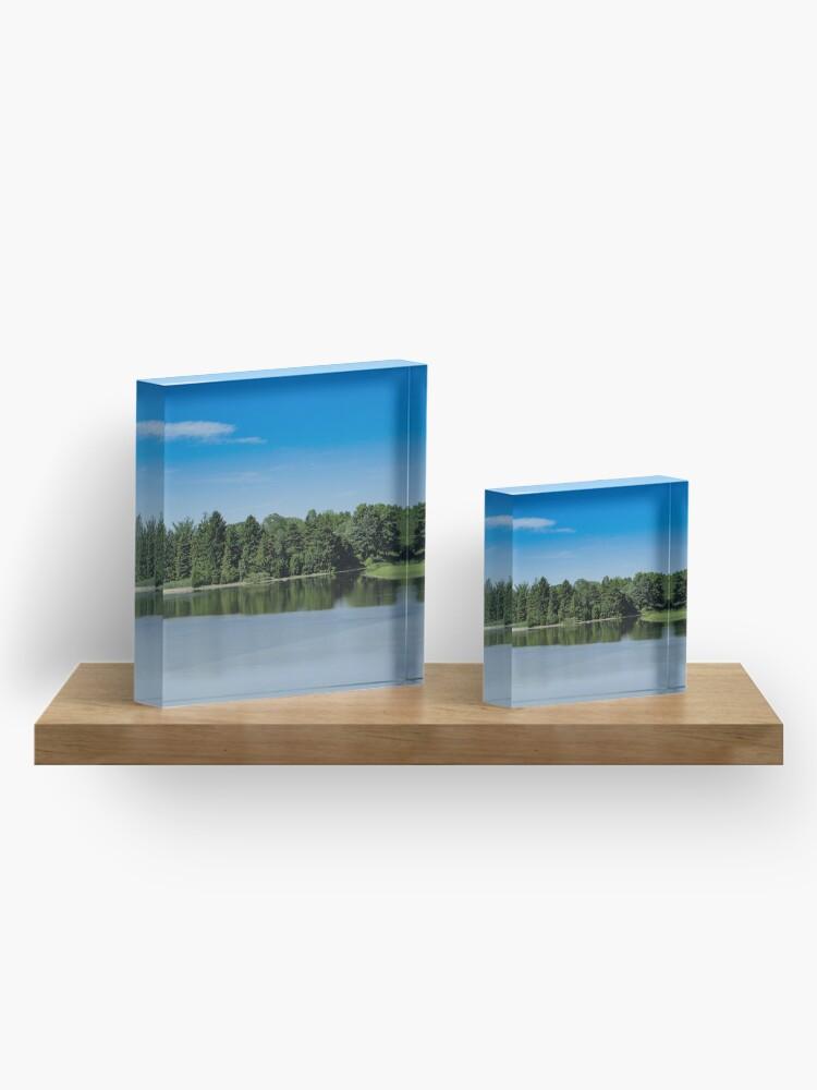 Alternate view of Green&Blue Acrylic Block