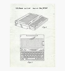 Original Patent for Apple IIe Personal Computer Photographic Print