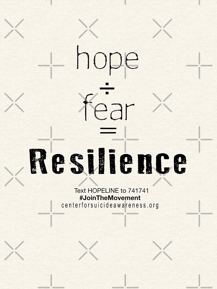 Hope/Fear = Resilience by CtrSuicideAware