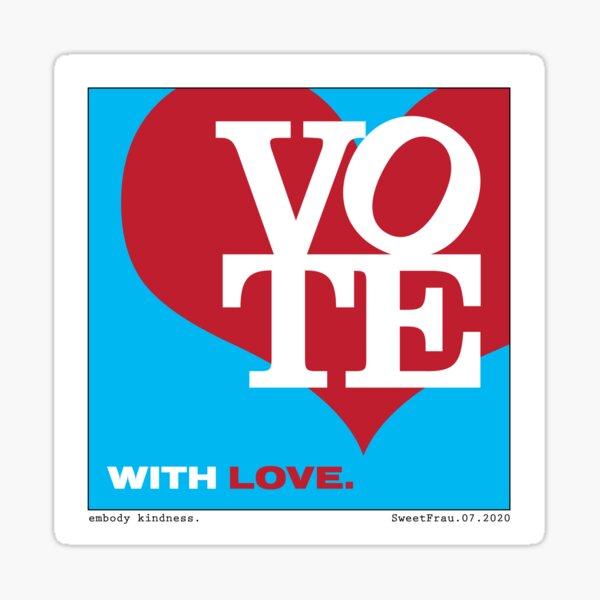 VOTE with LOVE I Sticker