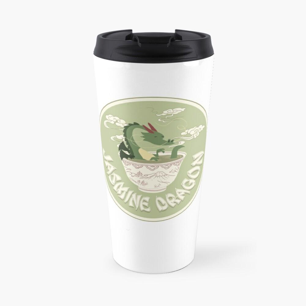 Jasmine Dragon Tea Shop Logo Travel Mug