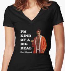 "Anchorman - Ron Bergundy - ""Big Deal"" Women's Fitted V-Neck T-Shirt"