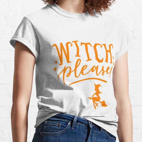 Witches Be Trippin T-SHIRT FUNNY JOKE Halloween Cat Bat Broomstick