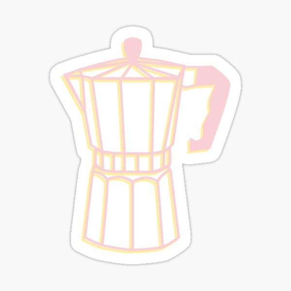 Cafecito - Moka Pot - Espresso Maker - Espresso - Sticker - Colada - Cuba - Cuban - Cubana - Pink - Yellow Sticker
