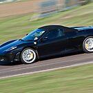 Black Ferrari soft top  by Martyn Franklin