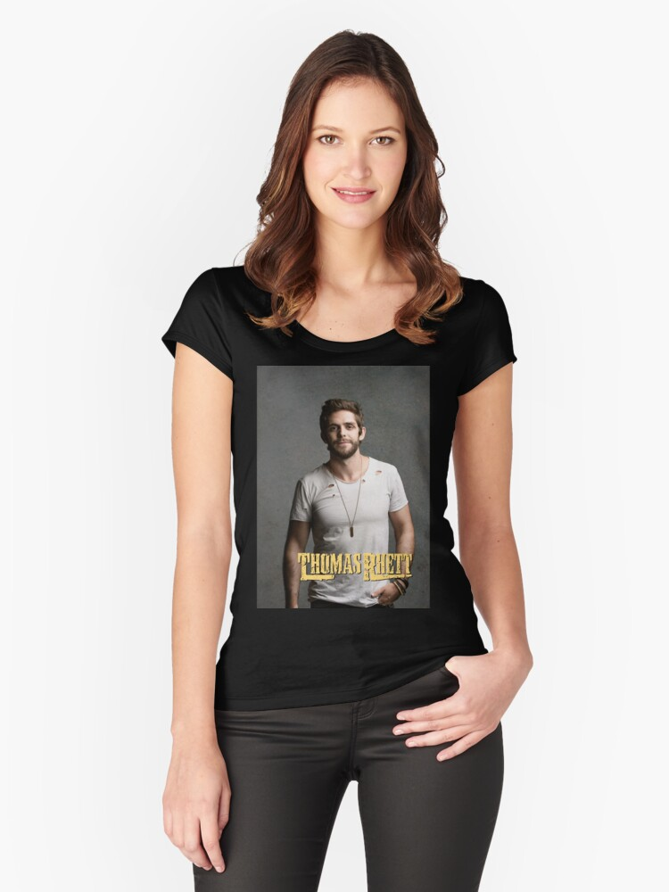 Thomas Rhett Tour 2016 mic03 Women's Fitted Scoop T-Shirt Front