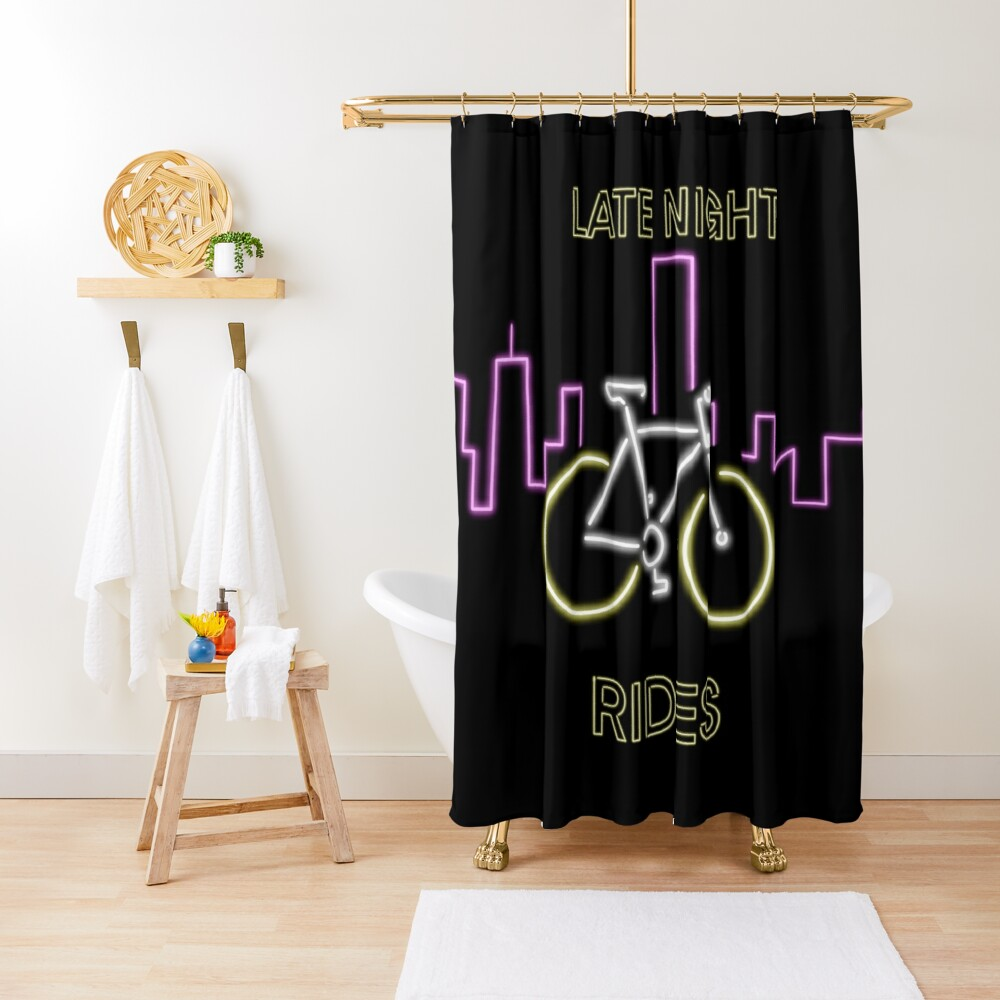 Late Night Rides V1 (Neon Signs) Shower Curtain
