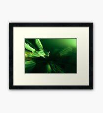 Grüne Musik Framed Print