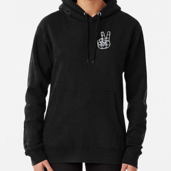 Peace - Grey/Black Lumberjack Pullover Hoodie