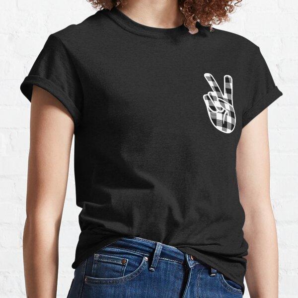 Peace - White/Black Lumberjack Classic T-Shirt