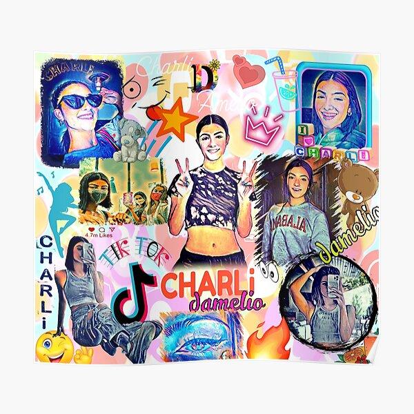 charli damelio, design cool Poster