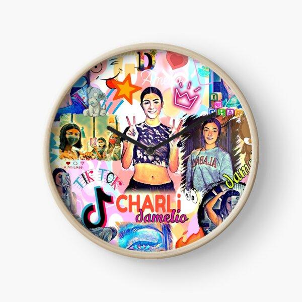 charli damelio , cool design Clock