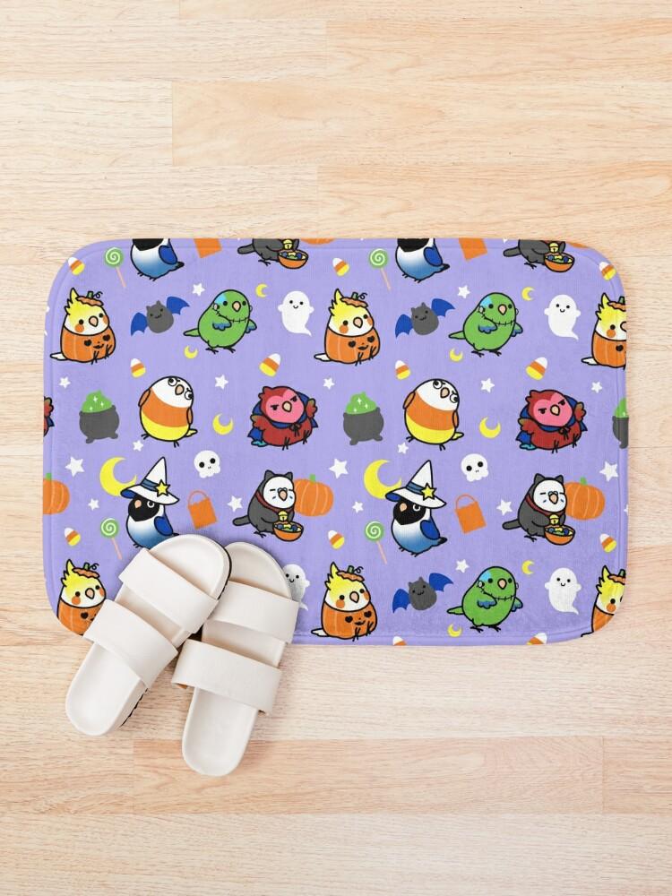 Alternate view of Chubby Bird Halloween Adventures V2 Bath Mat