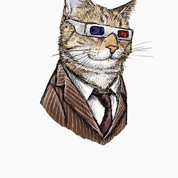 10th Doctor Mew 3D Glasses by jennyparks