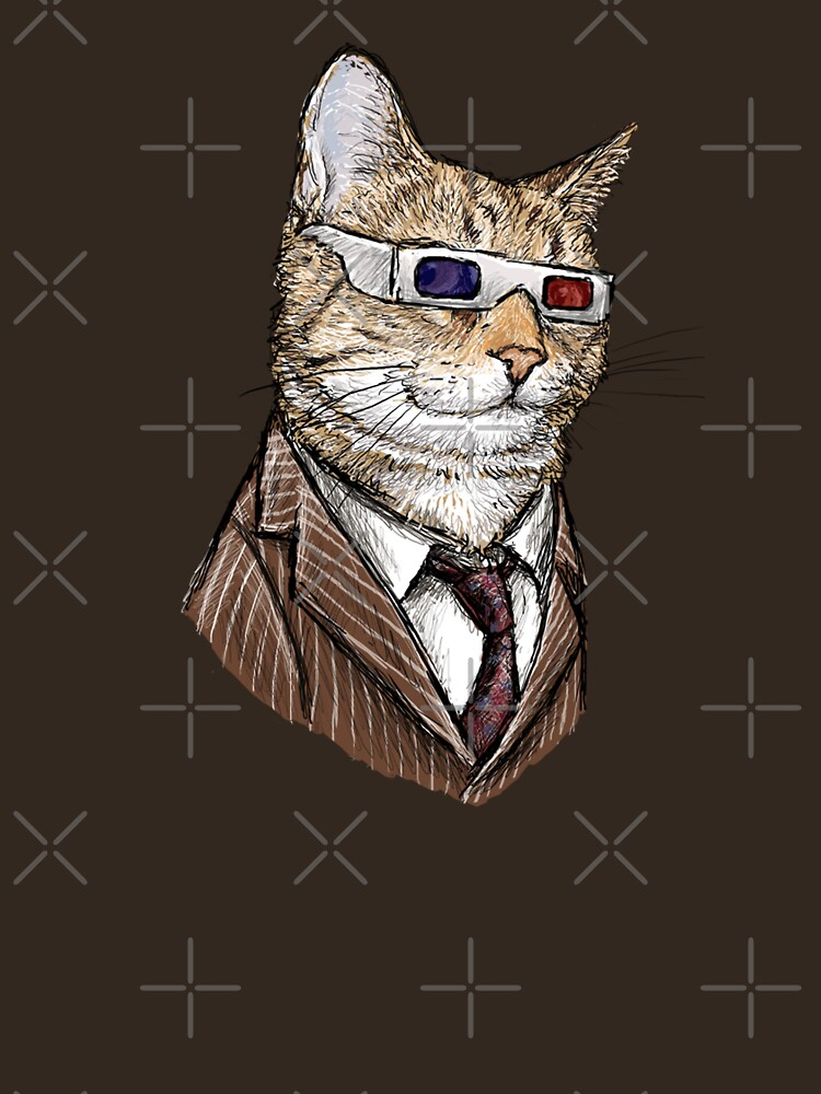 10th Doctor Mew 3D Glasses | Unisex T-Shirt