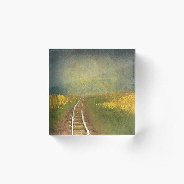 Rainy Prairie  Acrylic Block
