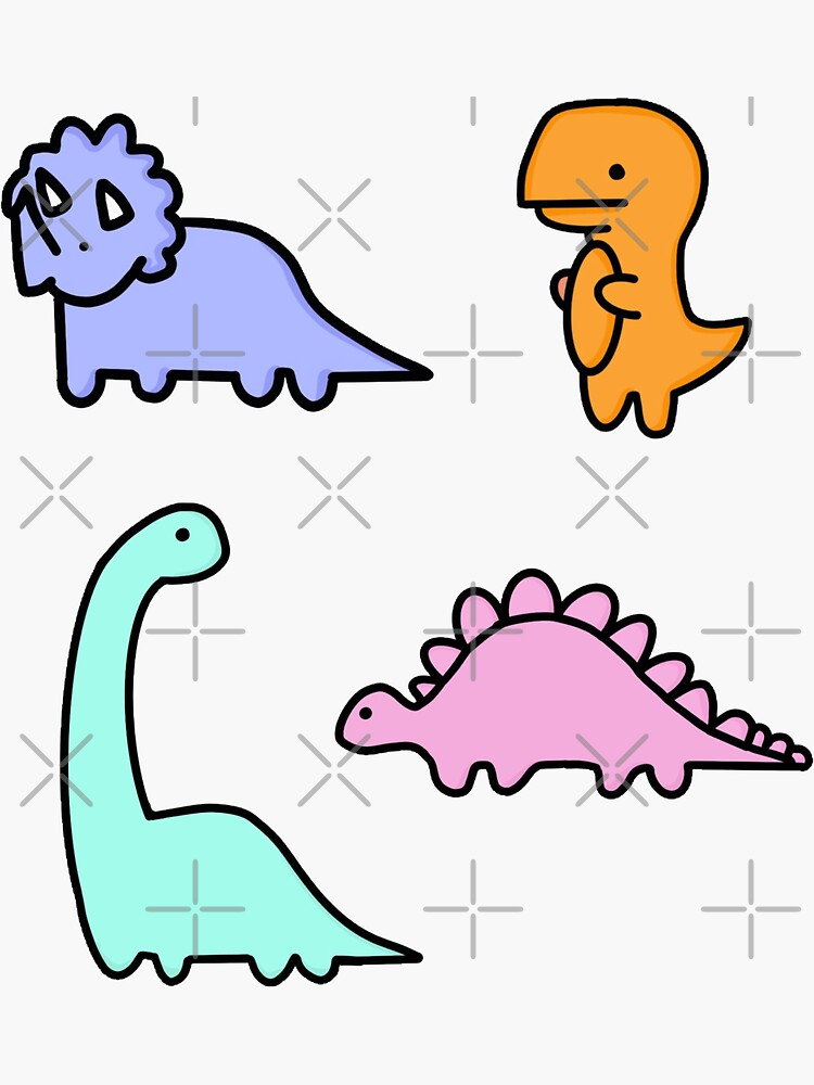 Pastel Dino Pack by jessicaleah15