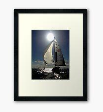 St Kilda twilight sailing Framed Print