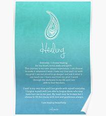 Affirmation ~ Healing Poster