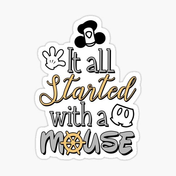 Todo empezó con un ratón Pegatina
