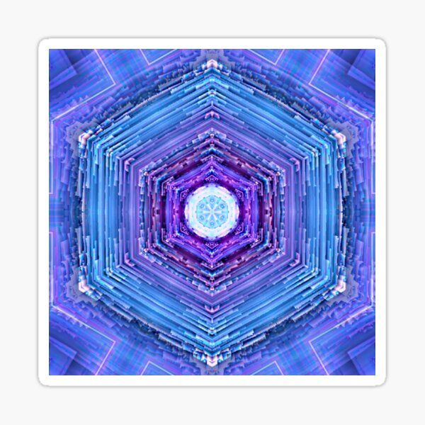 Hypercube Portal Sticker