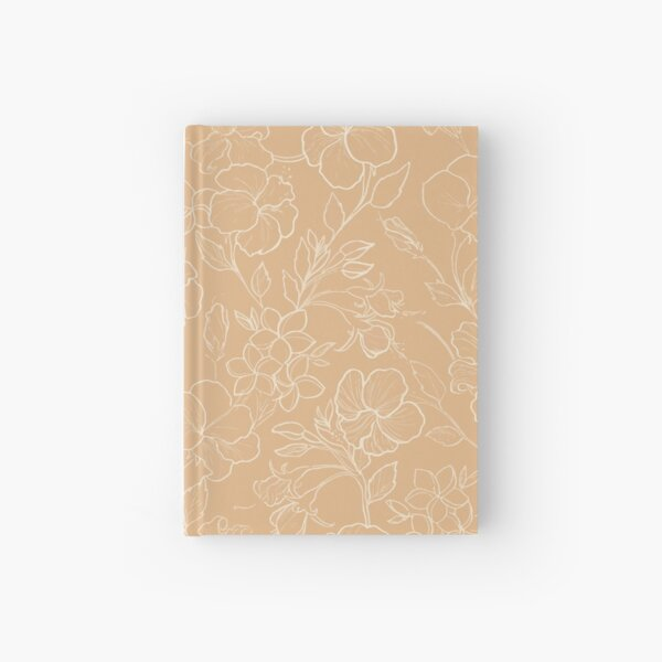 Yellow Tropical Flowers Hardcover Journal