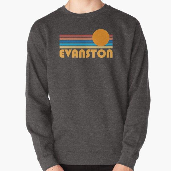 Evanston Retro Sunset Logo Pullover Sweatshirt