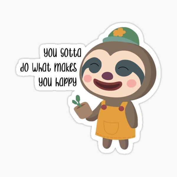 Sloth ACNH Sticker