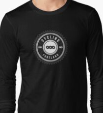 Cycling Portland Black & White Long Sleeve T-Shirt