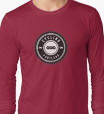 Cycling Portland Black & White Long Sleeve T-Shirt