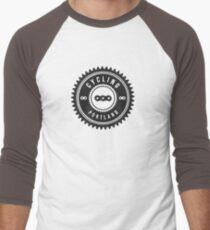 Cycling Portland Black & White Men's Baseball ¾ T-Shirt