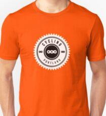 Cycling Portland White & Black Unisex T-Shirt