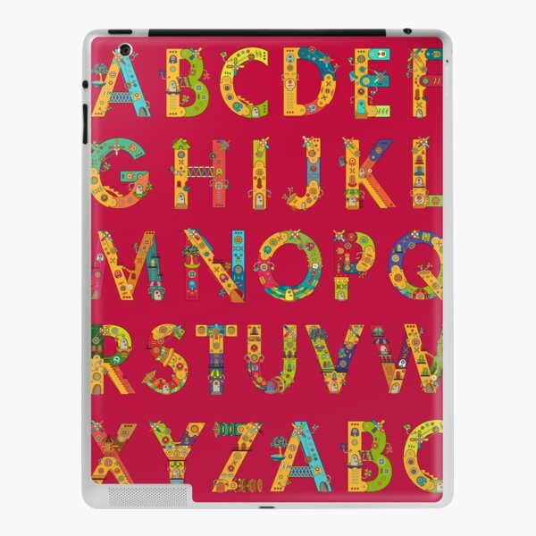 AlphaPod Letters iPad Skin