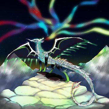 Aurora Borealis Dragon by superferretIX