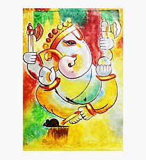 Lámina fotográfica Ganesha painting modern art Ganesha