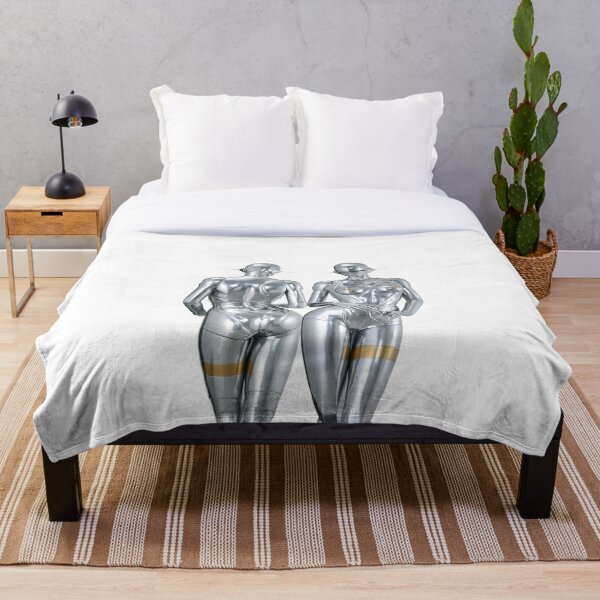 Robot Twins Throw Blanket