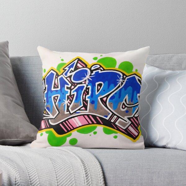 Hipo graffiti Throw Pillow